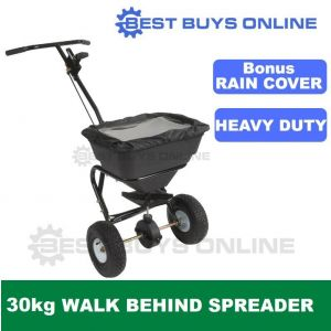 Fertilizer Spreader Push Walk Behind 30 Kg 26 L Seed Lawn Fertiliser Broadcast