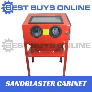 Sandblaster Cabinet Sand blaster Upright with Side entry door, Interior light