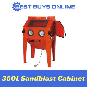SANDBLAST CABINET 350 Litre Industrial Sandblaster include Dust Extraction System