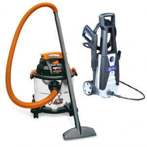SP Wet Dry Vacuum Cleaner 20 L SP020 & Electric Pressure Washer 1740 PSI AR Blue Clean AR120 Cleaning Combo