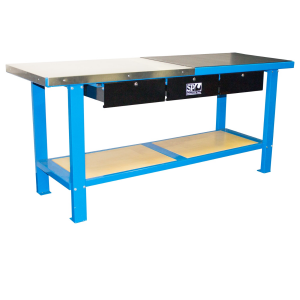 SP40400 Workshop Bench Heavy Duty Stainless Steel 1000kg 1 Ton with drawers SP Tools