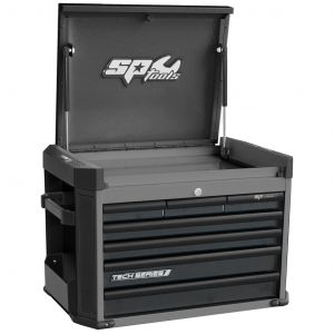 SP Tool Box 7 Drawer Chest Cabinet SP42205D Toolbox Storage Diamond Black