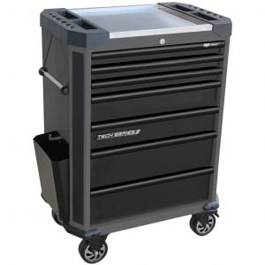 SP Tool Box Trolley Cart SP42255D 7 Drawer Roller Cabinet Diamond Black