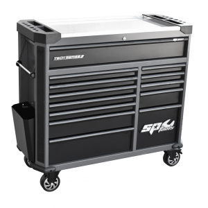 SP Tool Box Roller Cabinet 13 Drawers SP42355D Diamond Black Stainless Steel Worktop