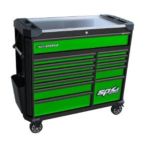 Tool Box Roller Cabinet 13 Drawers SP42355G Green Tool Box SP Tools Tech Series