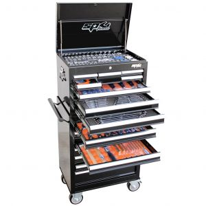 SP Tool Box 15 Drawer Roller Cabinet SP50110 Tools Kit 377pc Black Tool Set
