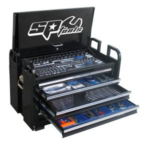 SP Tool Kit 406 pcs Black Tool box 7 Drawer Chest SP50115 Off-Road Field Toolbox