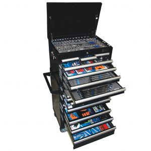 Tool Box 15 Drawer Roller Cabinet 609 Piece Tools Kit with Sockets, Spanners Set SP50165