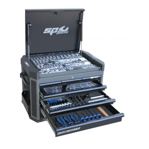 SP52255D Tool kit 251 Piece Metric - Sae Tools 7 drawer Tool Box Cabinet Black Tool Chest