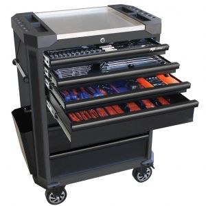 Tool Box Roller Cabinet SP52525D 230 pieces Tool Kit Metric Only - Diamond Black