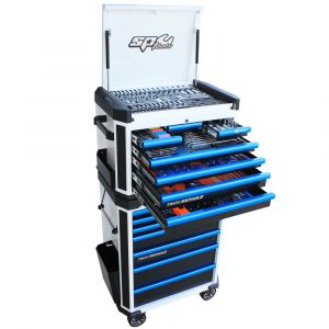 SP TOOLS Tool Kit 269 piece 14 Drawer Tool Box Roller Cabinet SP52535