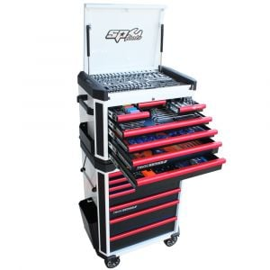 SP TOOLS 269pc TOOL KIT 7 Drawer Tool Cabinet 7 Drawer Roller Cabinet SP52536