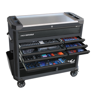 Tool box Tools Kit 13 Drawers Roller Cabinet 268 pcs Tools inc. Spanners, Sockets Set, Work light, etc. SP52635
