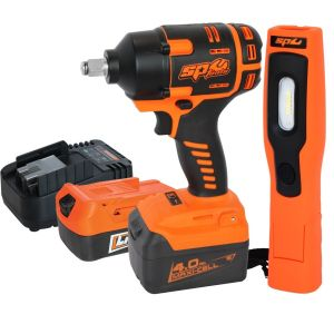 "Impact Wrench Kit 1/2"" Drive SP81133 Cordless Tool 18V plus BONUS Work Light (valued at $99)"