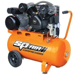 Air Compressor Portable 2.5 HP 50L Tank Belt Drive V-Twin Cast Iron 240V SP14