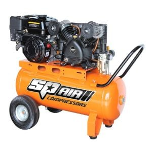 Air Compressor Petrol 6.5 HP Belt Driven SP Air 60L Tank V-Twin Pump SP17P