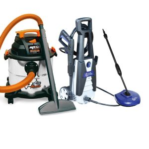 Wet Dry Vacuum Cleaner 20 L and SP Electric Pressure Washer, Patio Clean Workshop Cleaning Kit SP2020LE Combo