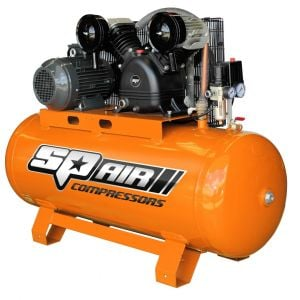 SP ELECTRIC 3 PHASE AIR COMPRESSOR 5.5HP TRIPLE CAST 200L Tank 482 LPM