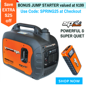 Inverter Generator Super Quiet  SPGi3000 Powerful 2500 W for Caravan, Camping Bonus Jump Starter SP61071 12V
