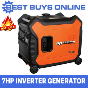 SP Inverter Generator 7 HP 3.3 kVA Max 3 kVA Rated Portable Camping