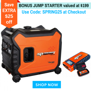 Inverter Generator SPGI3300E Portable Camping 3.3kVA Max 3kVA Rated 7 HP Electric Start Engine Super Quiet