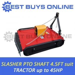 "4FT 6"" TRACTOR SLASHER 40HP GEAR BOX 5MM DECK OFFSETABLE CAT1/2 BEST BUYS ONLINE"