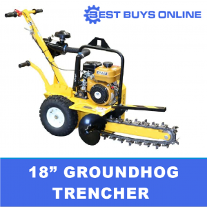 Groundhog Trencher T418DS Trench with Digging chain guard, Shark tooth blades. Best Buys Online