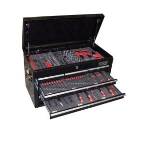 Tool Box 131 piece Metric / Sae Drive Sockets, Spanners, Screwdrivers Tool Kit T880005
