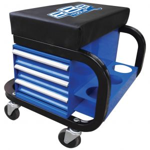 Tool box Rolling Tool Chest Stool Padded Seat with can holder T8R58