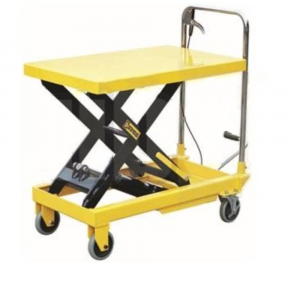 Scissor Lift Hydraulic Table Cart 300 - 750 kg with Foot Pedal Operated, Hand Lever
