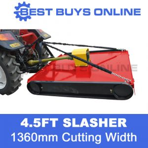 4.5ft Tractor Slasher 1360mm Cut Medium Duty suit Tractor 35HP 3 point linkage