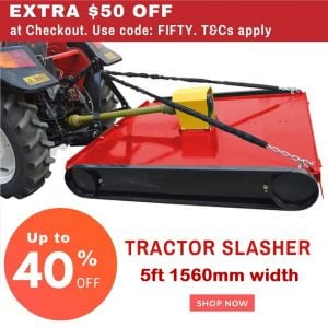 5ft Slasher Medium Duty suit Tractor 3PL upto 40 HP