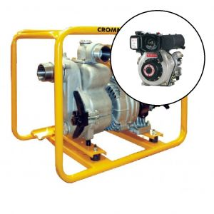 Trash Pump 3 inch Diesel Powered Yanmar 4.7hp L48 Engine Electric Start TP300YDE