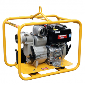 Trash Pump 4 inch Diesel Powered Yanmar 10 HP L100 Engine Electric Start TP400YDE