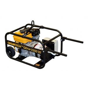 Portable Generator 4kVA 7HP Petrol Powered Work Site Approved with RCD, Weatherproof Outlets, Lifting Hook