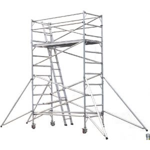New Aluminium Scaffold Scaffolding Mobile Tower With Wheels 6 Meter Height