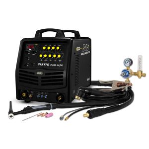 Inverter Welder Unimig 315 AC/DC Tig MMA KUMJR315ACDC Kit w/ Tig Torch, Arc Lead
