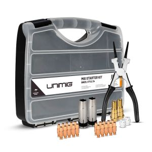 Unimig Mig Torch Consumable Starter Kit Binzel 15 style UMSK15 in Carry Case