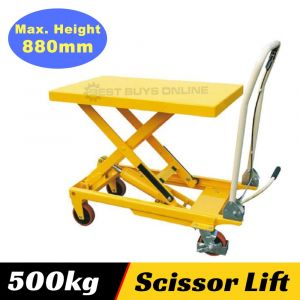 Table Cart Scissor Lift Trolley 500 kg High Lifting Height 880 mm