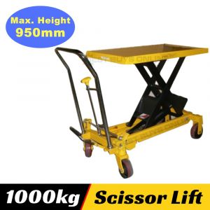 HYDRAULIC TABLE TROLLEY CART 1000 KG SCISSOR LIFT Heavy Duty