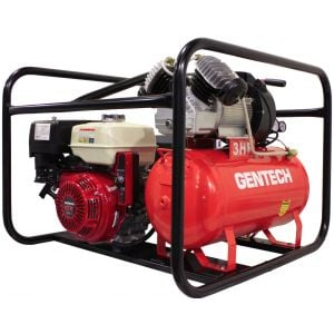 Welder Generator Compressor 14cfm Gentech 4 in 1 Work Station Petrol Powered Honda GX390 Key Start